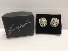 Kenneth Jay Lane Dome Hoop Clip On Earrings Rhinestones QVC New  | eBay