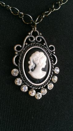 Cameo Necklace with Zebra  vintage funk by AllAboutThat on Etsy, $12.00