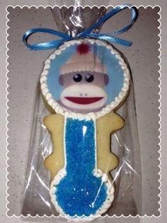 Sock Monkey Rattle Sugar Cookie