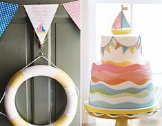 Layered Sailboat Cake by Charm City Cakes on HWTM! #nautical #amazingcakes