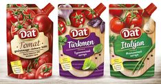 "Design of package of sauces TM ""Dat"" on Behance"