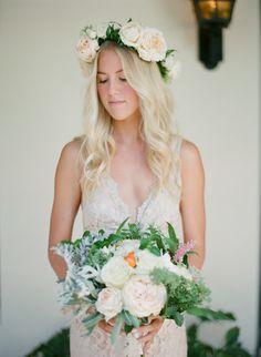 bridesmaids flower crown // #bridesmaids #realwedding