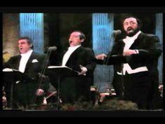 Plácido Domingo, José Carreras, Luciano Pavarotti - O sole mio and La traviata: Brindisi -Verdi  ..  You can see they are having fun..smile