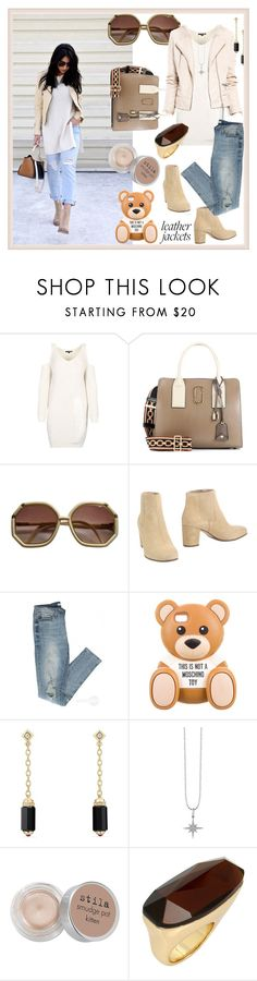 """Leather Jacket Chic"" by mariyushka ❤ liked on Polyvore featuring Marc Jacobs, Pedro García, Moschino, David Yurman, Sydney Evan, Stila, Robert Lee Morris and leatherjackets"