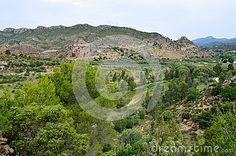 Serranos region over the river Turia by Domeño Area with low population density , geographic capital Losa del Obispo