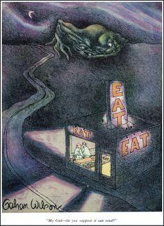 Cartoonist of the Macabre Gahan Wilson Gahan Wilson, Wilson Art, Funny Pix, Funny Stuff, Funny Cartoons, Playboy Cartoons, Go Fund Me, Macabre, Golden Age