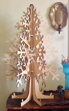 SUSTAINABLE TREE!!  Allium  Wood Lasercut Christmas Tree Large by FRESHbailey on Etsy, $175.00