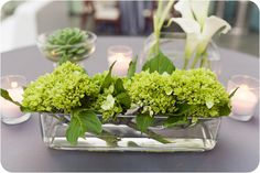 Cocktail table centrepieces