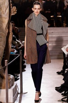 Chic print mix @BouchraJarrar Bouchra Jarrar Spring Couture 2013 #HauteCouture #HC #Fashion