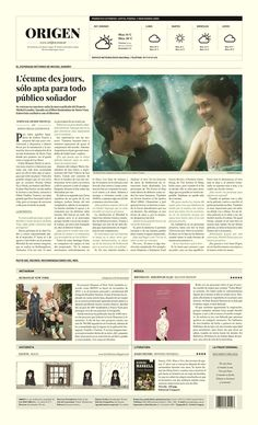 ORIGEN / Periódico - Newspaper on Behance