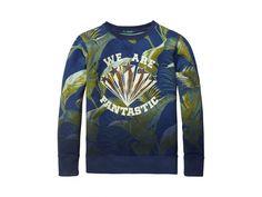 Scotch Shrunk crewneck sweater with print | www.eb-vloed.nl
