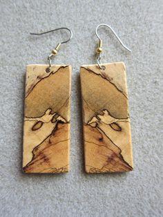 Beautiful Spalted #Tamarind Exotic Wood #Earrings by #ExoticWoodJewelryAnd @artnmore
