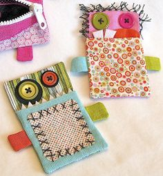 """Pocket monsters. As my daughter would say, """"adorbs!""""    Gift Card Monsters by Happy Zombie, via Flickr"""