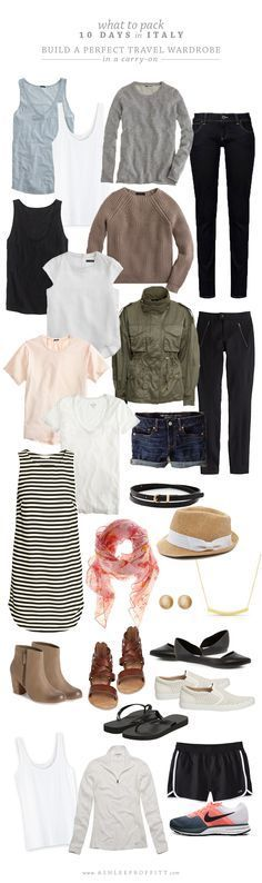 What To Pack: 10 Days In Italy Build A Perfect Travel Wardrobe Intentional Style By Ashlee Proffitt And Megan Michele Capsule Wardrobe, Travel Wardrobe, Work Wardrobe, Wardrobe Staples, Travel Outfit Spring, Spring Outfits, Travel Outfits, Summer Travel, Packing Outfits