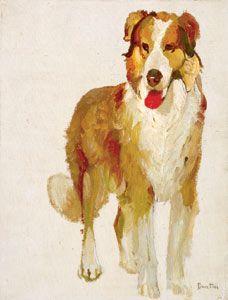 William Herbert Dunton, Study of a Collie Dog