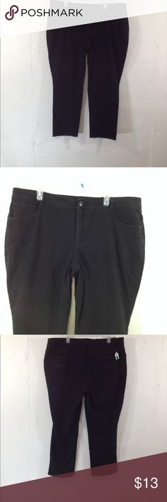 Style & co jeans size 22wp black stretch slim leg Waist 42  inseam 26.5. Rise 12.  23g771 Style & Co Jeans