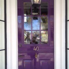 Purple Rain paint by Benjamin Moore, door to Monc XIII, Sag Harbor, New York