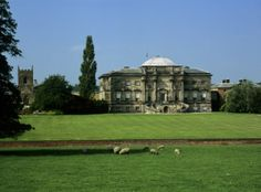 The historic Derbyshire home of the Curzon family, south front, at Kedleston Hall, Derbyshire, a National Trust property. Learn more about National Trust's properties on the AngloFiles blog by The Royal Oak Foundation.