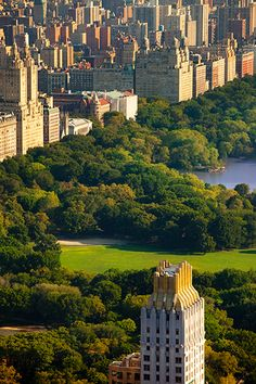 View over Central Park and Upper West Side in New York City, USA