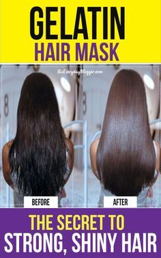 DIY Gelatin Hair Mask for Shiny, Strong Hair