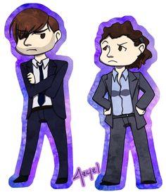 Hardy and Miller by azyzl.deviantart.com on @deviantART        Broadchurch's Alec and Ellie. Fantastic job.