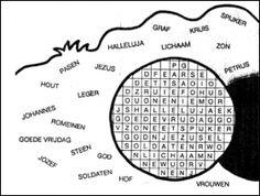 De opstanding van Jezus [Streeppuzzel Mattheus 28]