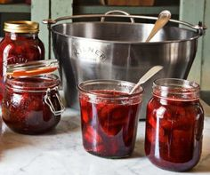 Weekend Project: Strawberry Preserves; uses 1lb strawberries