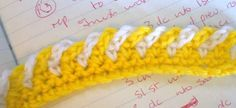 Crochet 2 color chain edging tutorial