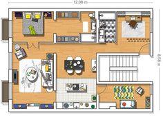 Piso reformado en Madrid: Plano de la casa