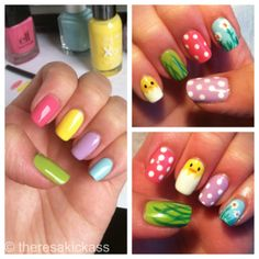 Easter nail art mani #easter #nailart #mani #nails #polish