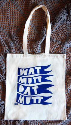 WAT MUTT DAT MUTT - Stoffbüdel aus Biobaumwolle // tote bag by Ahzehweh via dawanda.com