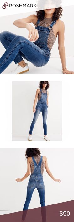 """Madewell Skinny Overalls NWOT NWOT Madewell Skinny Overalls. Side zipper, adjustable strap length. Inseam approx 28"""". Waist is approx 12 3/4 inches laying flat. Sizing probably equivalent to a 23, maybe a small 24. I'm a 25 in most jeans and I can get these on but they're waaay too tight. Madewell Jeans Overalls"""