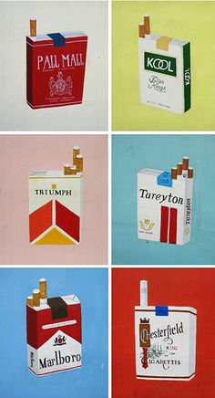 Creative Retro, Ffffound, and Illustration image ideas & inspiration on Designspiration Retro Ads, Vintage Advertisements, Vintage Ads, Vintage Posters, Coffee And Cigarettes, Winston Cigarettes, Cigarette Brands, Pall Mall, Breakfast Of Champions