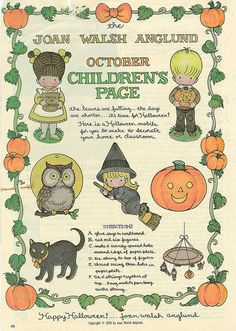 Joan Walsh Anglund Halloween paper doll craft page mobile