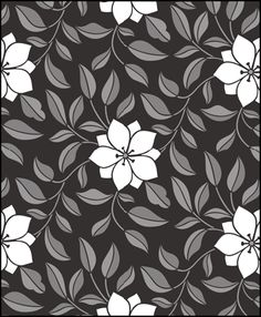 Chinese Style Clematis No 2 stencils, stensils and stencles