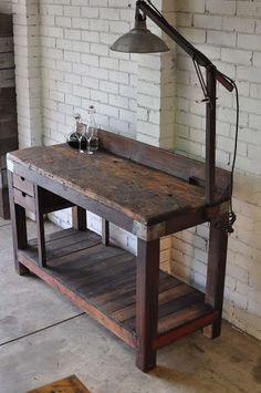 Vintage industrial desk.