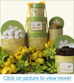 Deluxe easter delights gourmet gift basket for the whole family bee happy gourmet cookies easter gift tower bee happy gourmet negle Image collections