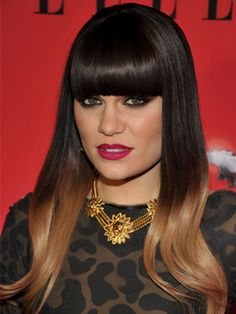 Jessie J's dip-dye honey hue at ELLE Women in Music Event. www.handbag.com/hair
