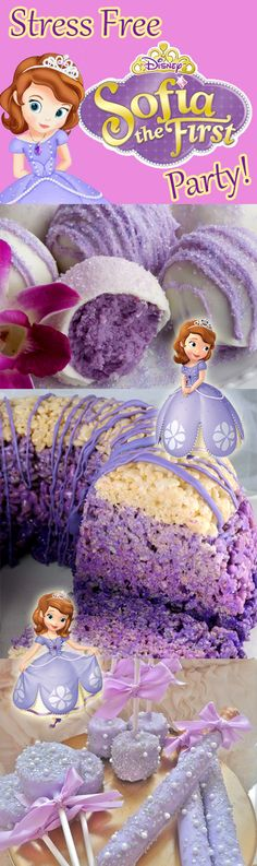 A round-up of EASY PEASY ideas for throwing a stress free and adorable Sofia the First party!
