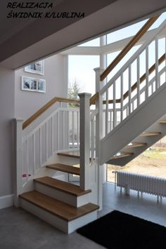 Schody Drewniane - Fabryka Schodów Stairways, Beach House, House Design, Kitchen, Home Decor, Houses, Ladders, House, Stairs
