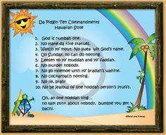 Ten Commandments - Hawaiian Style
