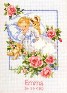 Cross Stitch Beginner, Cross Stitch Art, Cross Stitch Flowers, Cross Stitch Designs, Cross Stitching, Cross Stitch Embroidery, Cross Stitch Patterns, Baby Embroidery, Flower Embroidery Designs