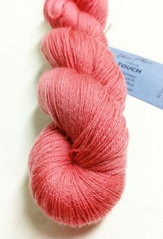 Yarn Place Touch Yarn 5% Cashmere 10% Tencel 85% Wool 62.5g 820yds Rose #183 #YarnPlace #Plied