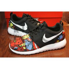 Ready to Ship Women 9.5 Nike Roshe Run Black White (Silver Swooshes)... ($185) ❤ liked on Polyvore featuring shoes, athletic shoes, dark olive, sneakers & athletic shoes, women's shoes, white black shoes, black and white shoes, silver shoes, army green shoes and olive green shoes