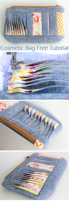 Zipper Cosmetic Bag Tutorial Portefeuille couture retournée vague The post Zipper Cosmetic Bag Tutorial appeared first on Beautiful Daily Shares.Zipper Cosmetic Bag Tutorial Zipper Cosmetic Bag Tutorial ~ How to sew for beginners. Cosmetic Bag Tutorial, Diy Bags Tutorial, Pouch Tutorial, Bag Patterns To Sew, Sewing Patterns Free, Free Sewing, Free Pattern, Pattern Sewing, Sewing Hacks