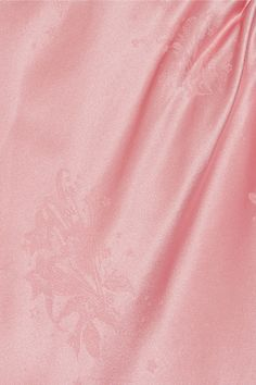 Topshop Unique - Lambeth Cutout Silk-jacquard Blouse - Baby pink - UK14