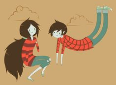 Adventure Time Marcelline and Marshall lee Adventure Time Characters, Adventure Time Anime, Adventure Time Personajes, Marshall Lee Adventure Time, Pendleton Ward, Marceline And Bubblegum, Jake The Dogs, Famous Cartoons, Bubbline