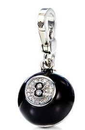 Juicy Couture magic 8 ball charm