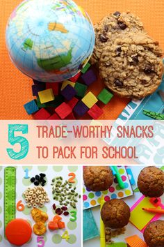 5 trade-worthy snacks for school or after-school, all home-made! Plus a $250 lunch gear giveaway from MightyNest.