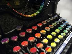 1937 Typewriter Modified to Create Colorful Works of Art - My Modern Met